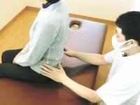 座り姿勢での調整